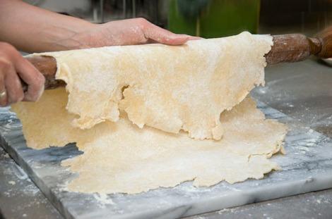 Apricot, cherry, Pistachio Tart rolling dough