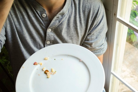 Fish Taco empty plate