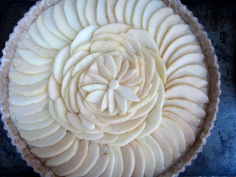 Apple Tart Ready for Oven Lee and Lou Cook LK