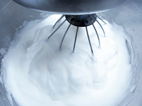 Whipping Egg Whites for Chocolate Log