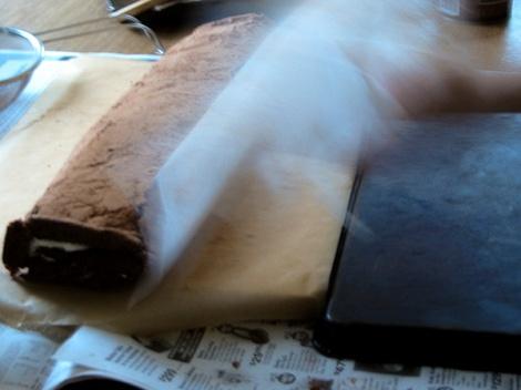 Chocolate Log Lee and Lou Cook