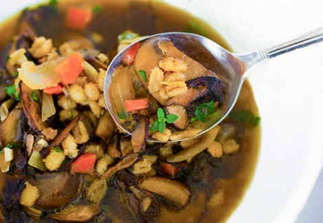 Mushroom Barley Soup - Lee and Lou Cook