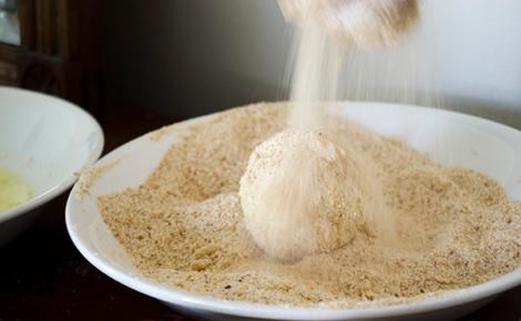 Arancini - breading
