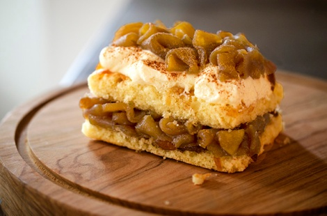 Almond Cake with Brown Sugar Apples