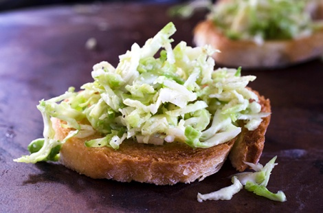 Crostini with Brussels Sprouts