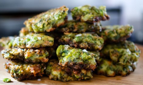 Smashed Pea Fritters