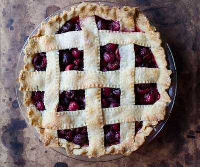 Cherry Pie with Lemon Thyme