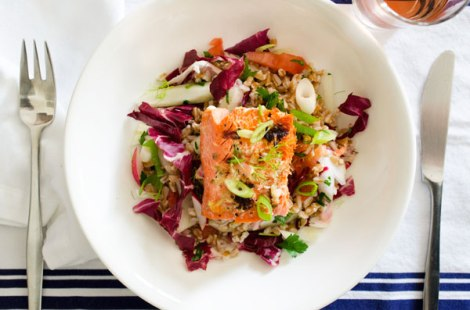 Grilled Salmon Grain Bowl