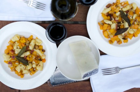 Gnocchi with Butternut Squash, Pancetta and Sage
