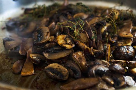 Wild Mushrooms with Polenta