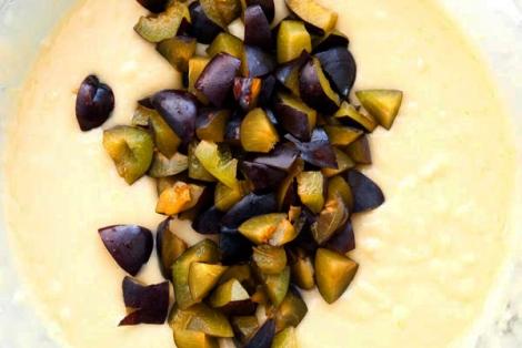 Olive Oil Plum Cake